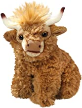 Carl Dick Cow, Highland Cow, 6 inches, 16cm, Plush Toy, Soft Toy, Stuffed Animal 2786