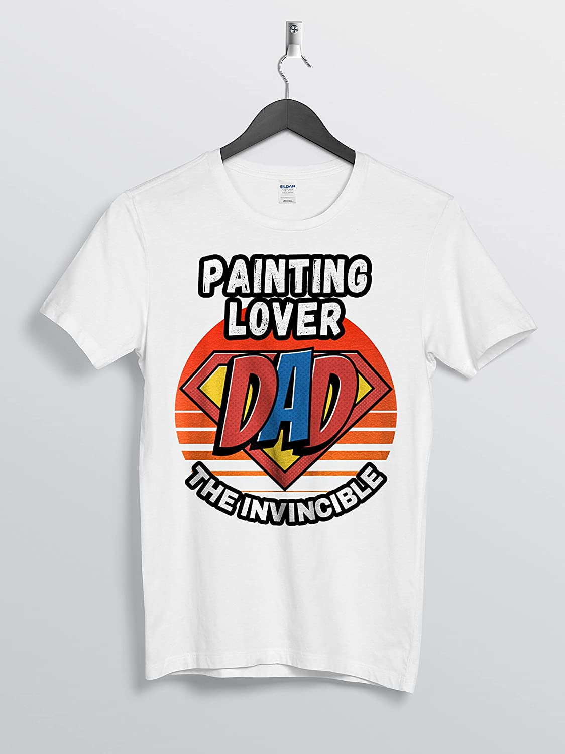 Painting Lover Dad The Invincible And Superhero For Daddy Custom Personalized Gifts T-Shirt