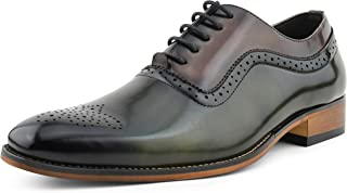 Piedmont - Mens Dress Shoes - Oxford Shoes for Men - Tuxedo Shoes - Two Tone Oxford Shoes Men - Lace Up Mens Casual Dress Shoes - Designer Mens Shoes