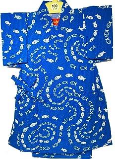 甚平 子供 日本製 キッズ 女の子 男の子 魚群 さかな 浴衣 リップル 甚平セット かわいい 柄甚平 和柄 ベビー甚平 夏 ベビー 女児 男児 幼児 園児 小学生 赤ちゃん
