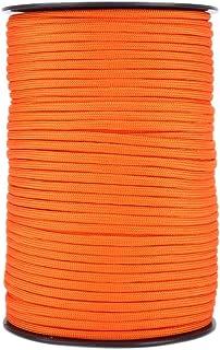 Dilwe fallskärmsladd, 550 reflekterande färger 9 strängkärnor 100 m Paracord-rep för överlevnadsklättring (orange)