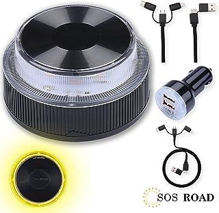 NK SOS Road - Luz de Emergencia Coche + Kit Auto 6 en 1, Luz de Emergencia Autónoma, Luz LED, Señal V16 de Preseñalización...