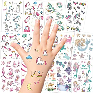 Longsing Tatouage Temporaires pour Enfant Autocollants De Tatouage pour Fille Garcon Favors F/ête Anniversaire Fournitures Cadeaux Parti Sacs Remplisseur