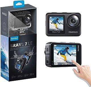 アクションカメラ AKASO Brave 7 LE 水中カメラ 4K 20MP 高画質 IPX7本機防水 デュアルカラースクリーン Wi-Fi EIS2.0手ぶれ補正 SONYセンサー 1350mAhバッテリー2個 40M防水(ケース必要) リ...