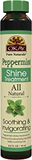 Okay Peppermint Shine Treatment For All Hair Types & Textures Soothing & Invigorating with 12 Natural Oils, 0.6 Ounce (Pack of 72)