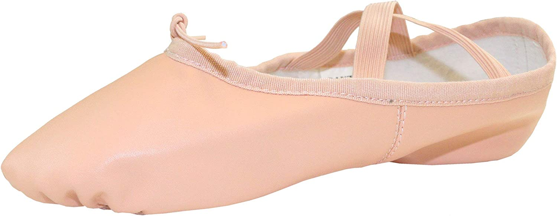 Danzcue Adult Split Sole Leather Ballet Dance Slipper