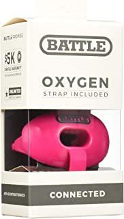 Battle Oxygen Lip Protector Mouthguard with Connected Strap – Football and Sports Mouth Guard – Maximum Oxygen Supply – Mouthpiece Fits With or Without Braces – Impact Shield Covers Lips and Teeth, Pink, One Size