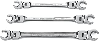 GEARWRENCH 3 Pc. Flex Head Flare Nut Wrench Set, Metric - 81915