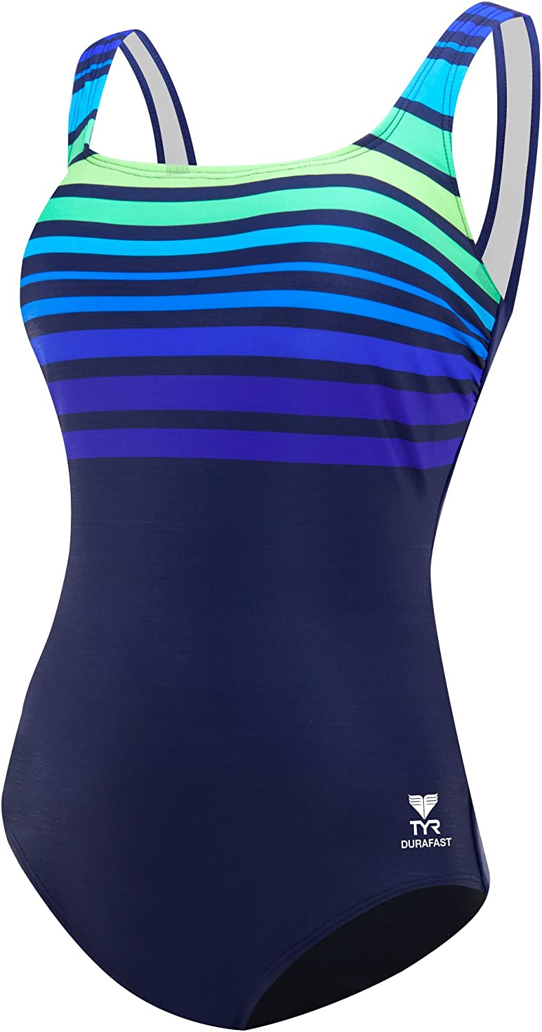 TYR Women's Ombre Stripe Swimsuit Tampa Mall Control Aqua Fit Seattle Mall