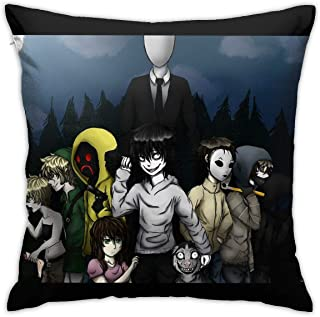 ZHUHOO Creepypasta Bedroom Couch Sofa Square Pillow Case Home Decorative Throw Pillow Covers 18x18 Inch