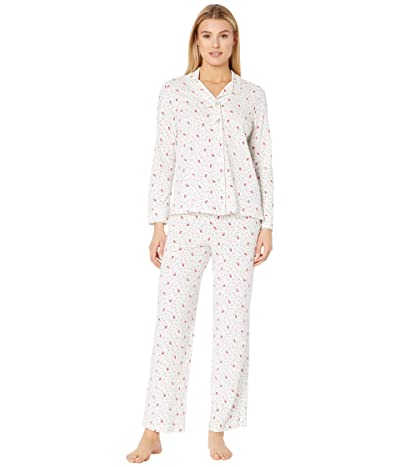Carole Hochman Soft Jersey Notch Collar Pajama Set (Cardinals) Women