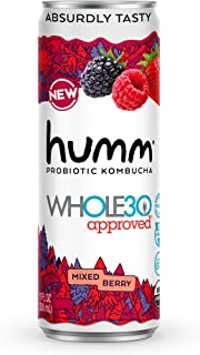 Sponsored Ad - Humm Whole30 Approved Probiotic Kombucha Mixed Berry - The Only Whole30 Approved Kombucha. Absurdly Tasty. ...