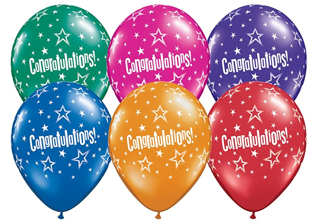 Pioneer Balloon 87536 087536 Congratulations Star Patterns, 11