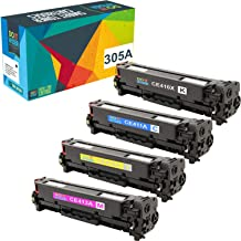 Do it Wiser Compatible Toner Cartridge Replacement for HP 305A 305X CE410X CE411A CE412A CE413A HP Laserjet Pro 400 Color MFP M451nw,M451dn, M451dw, MFP M475dn, Pro 300 Color MFP M375nw - 4 Pack