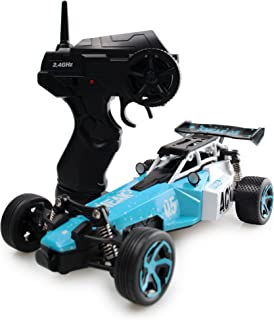JIECAN RC Car Electric Racing Buggy - High Speed Remote Control Truck Off-Road Rock Crawler 1/24 Scale(Blue)