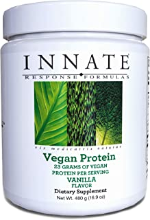 INNATE Response Formulas, Vegan Protein, Plant-Based Drink Powder, Vanilla Flavor, 16.9 Oz (15 Servings)
