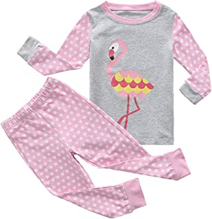 Girls Boys Pajamas Sets Cotton Striped Long Sleeve Thickened Sleepwear for Girls and Boys Size 12 Month-13 Years