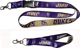 WinCraft Bundle 2 Items: James Madison JMU University Dukes 1 Lanyard and 1 Key Strap Key Chain