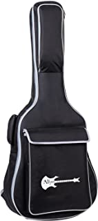 "Aliyes Acoustic Class Guitar Gig Bag Full Size Metal Zippers Carrying Bag 41"" Water-Resistant Oxford Fabric 10mm Thick Sponge Padded Adjustable Strap Black"
