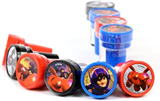 Disney Big Hero 6 Self-Inking stamps / Stampers Party Favors (10 Counts)
