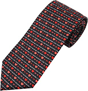 Jacob Alexander Boys' Prep Happy Valentine's Day Hearts Arrows Regular Length Neck Tie