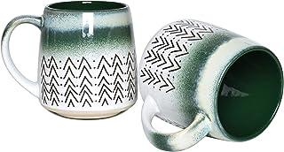 Sponsored Ad - Bosmarlin Large Ceramic Coffee Mug Set of 2, 16 Oz, Big Stoneware Tea Cup for Office and Home, Dishwasher a...