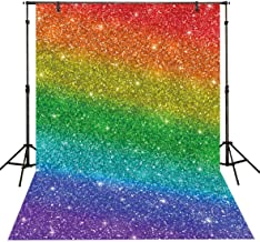 Funnytree 5x7ft Durable Fabric Colorful Printed Backdrop (No Glitter) No Wrinkles Party Photography Background Portrait Birthday Decorations Cake Table Banner Photobooth Photo Studio Video Props