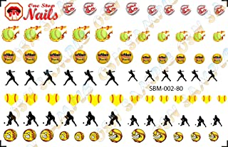 Softball Mom Waterslide Nail Decals by One Stop Nails V2.