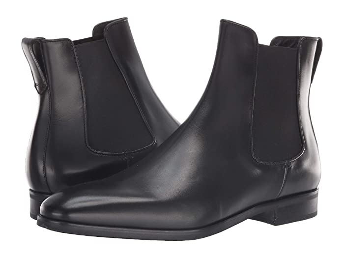 Mens Roamers Leather Chelsea Boots Cushioned lining Black size 11