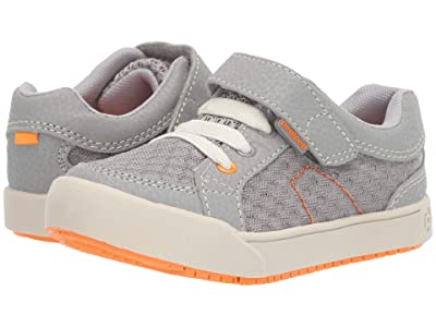pediped Dani Flex (Toddler/Little Kid) (Grey/Orange) Boy