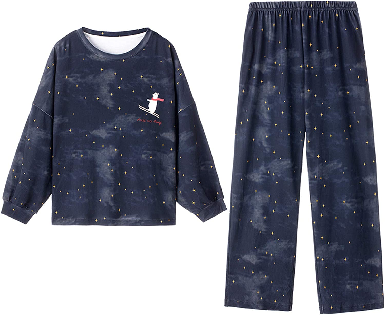 Home Wear,Women Fashion Print Sets Wear Lounge Wear Pocket Home Sleep Set Tops+Pants New 2021