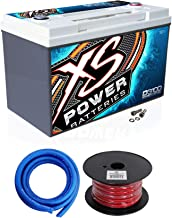 XS Power D3100 5000 Amp Power Cell Car Battery + Hardware + Power/Ground Wires