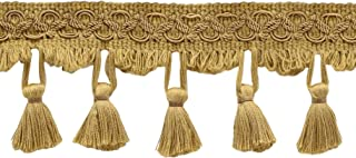 D/ÉCOPRO 5 Yard Value Pack of Elaborate Medium and Light Gold 3 inch Two Tier Tassel Fringe 15 Ft // 4.5 Meters Golden Rays 4875