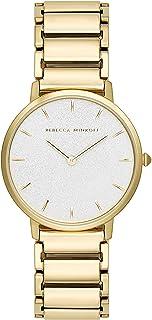 Rebecca Minkoff Women's Quartz Watch with Stainless Steel Strap, Gold, 16 (Model: 2200259)