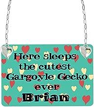 PotteLove Gargoyle Gecko Vivarium Sign Tin Plaque Aluminum Wall Poster for Garage Man Cave Cafe Bar Pub Club Caffee Beer Patio Home Decoration 12