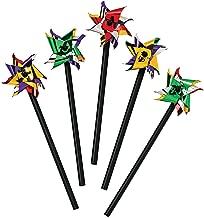 Fun Express - Mini Metallic 2-Tone Pinwheels (6dz) - Toys - Value Toys - Pinwheels - 72 Pieces
