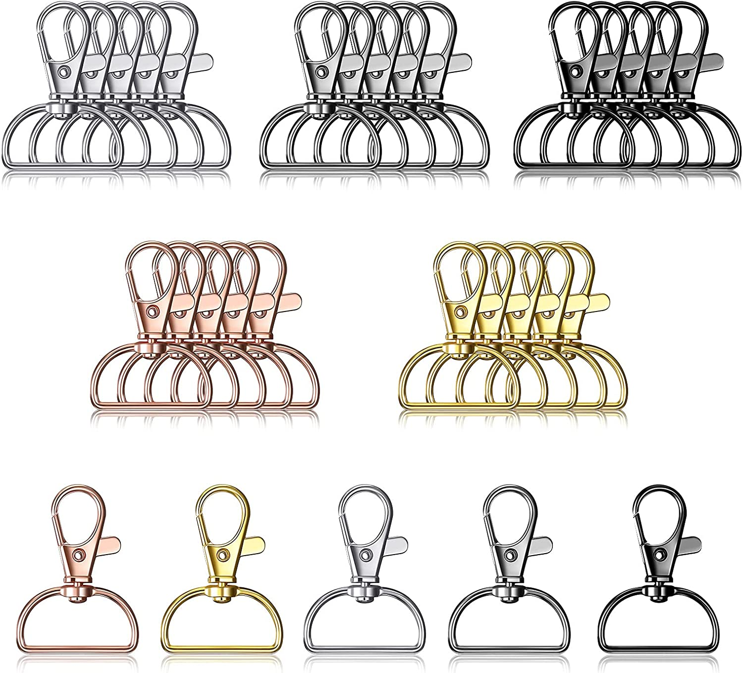 25 Pieces Metal Swivel Special price Clasps Lanyard Snap H Keychain Ranking TOP19 Clip Hooks