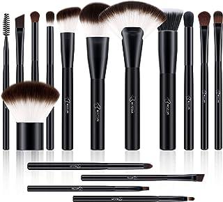 BESTOPE Makeup Brushes 16 PCs Makeup Brush Set Premium Synthetic for Cosmetic Foundation Blending Blush Powder Blush Concealers Eye Shadows Brushes Kit
