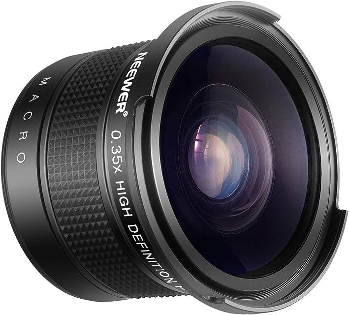 Neewer 55mm 0.35X Ojo de Pez Lente Angulo Ancho con Primer Plano Macro para Nikon D3400 D5600 Sony SLT-A99VA99IIA99A77IIA77A68A58A57A65A55A390A100A33A900 DSLR Cámaras