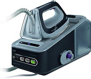 Braun CareStyle 7 Pro IS 7056 - Centro de planchado, 2400 W, 7.5 bar, 2 L, 450 g/min, 125 g/min, suela saphir negro, gris