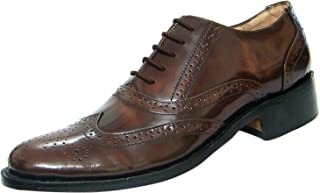 ASM Tan Brush Off Calf Leather Brogue Shoes with Full Leather & Memory Foam Cushioning for Optimum Comfort by Article No 105
