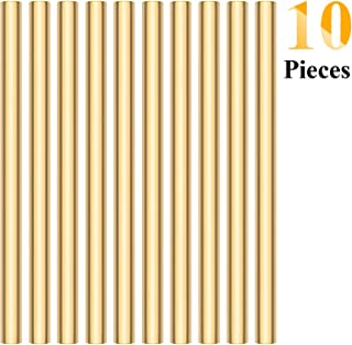 Sutemribor Brass Solid Round Rod Lathe Bar Stock, 1/4 Inch in Diameter, 4 Inches in Length (10 PCS)