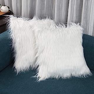 faux fur mongolian pillow covers