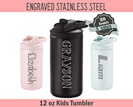 Personalized 12 oz Kids Steel Tumbler - 28 Custom Options