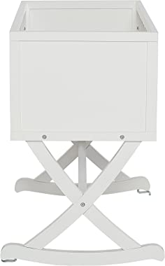 Dream On Me Luna/Haven Cradle, White , 37x19x31.5 Inch (Pack of 1)