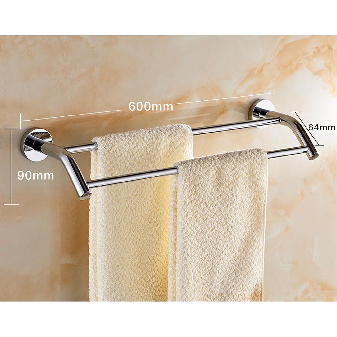 たくさんの平行褒賞タオル掛けタオルスタンド 浴室の銅のクロムタオル掛けの平行棒タオルバー60CMの最高負荷150kg