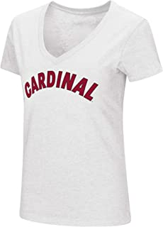 Womens NCAA-Valuable Commodity-Dual Blend V-Neck Slim Fit T-Shirt