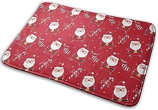 15.7X 23.5inクリスマスパターンSantaclausバスマットポリエステルフロントドアマットバスルームラグカーペットinInsideOutdoor 15.7 X 23.5 in Christmas Bulldog2バスマットポリエステ...
