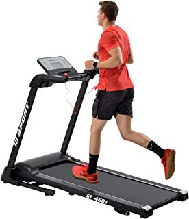 Merax Electric Treadmill 2.25HP Folding Treadmill for Home 3 Levels Incline Treadmill with 17 W Running Belt Motorized Running Walking Machine Easy Assemble Treadmill with 12 Preset Program