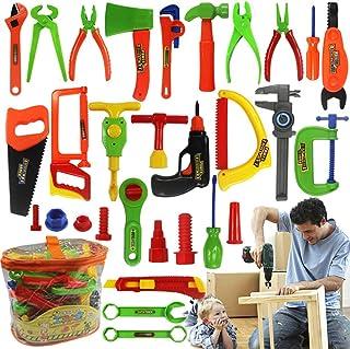 EcoGo 32 Piezas Herramientas de Juguetes para Niños, Juegos de Imitación Conjunto de Herramientas para Niños Niñas - Color Aleatorio